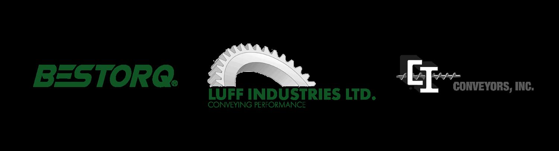 Bestorq Logo Luff Industries Logo Conveyors Inc Logo