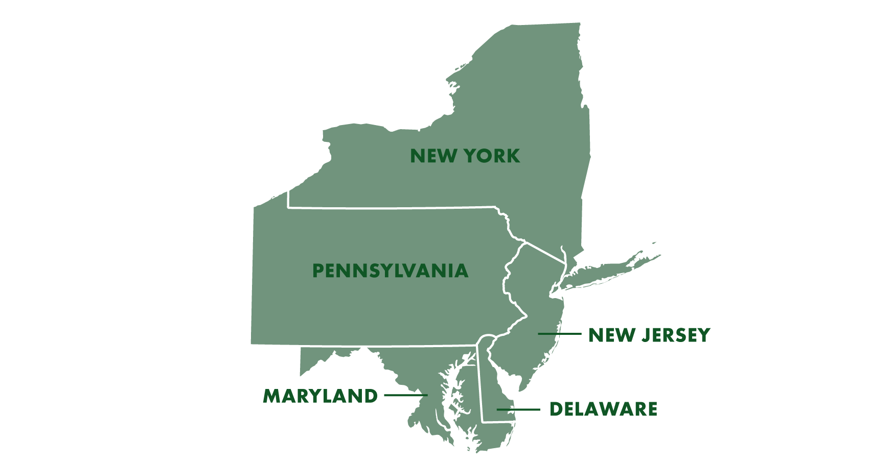 Map Of New York Pennsylvania And New Jersey.Territory Eno Industrial Sales